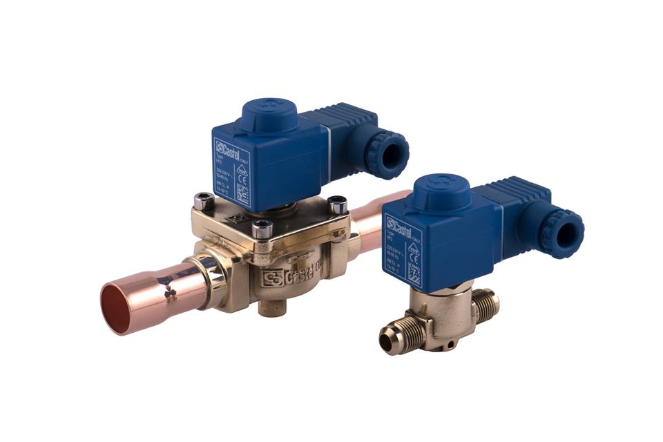 Normally-closed solenoid valves Castel Image